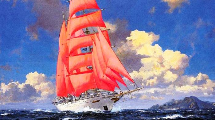 корабли картинки с парусами
