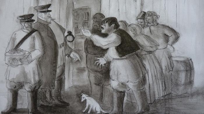 Иллюстрация к рассказу «Хамелеон»